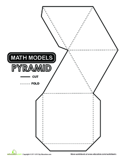 Square Pyramid Cut-out
