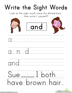 Seeing Sight Words: And