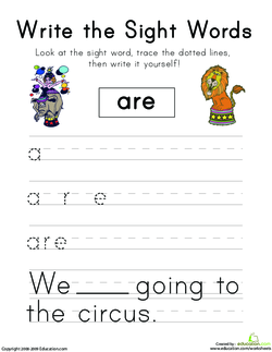 Seeing Sight Words: Are