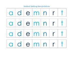Student Spelling Manipulatives