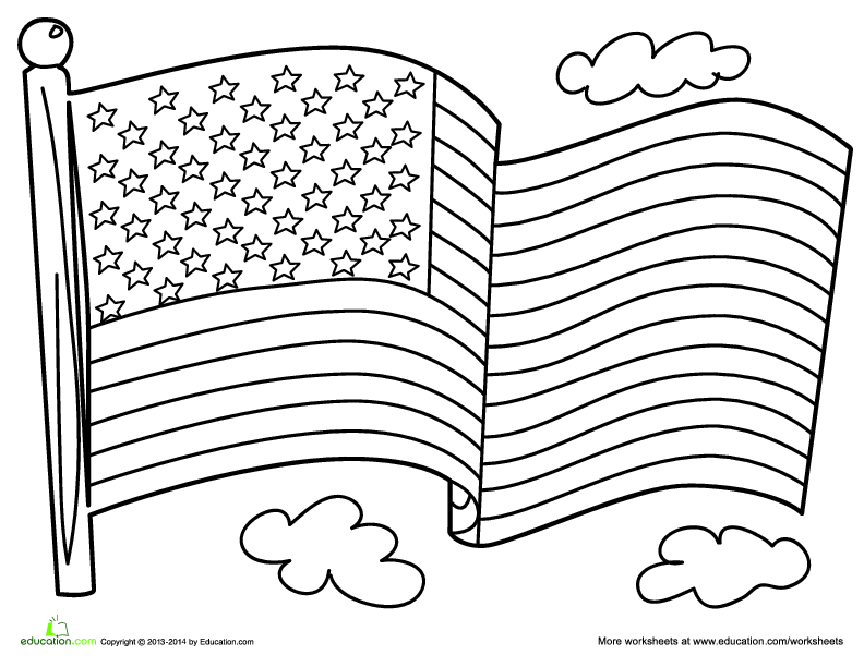 coloring page of the american flag stars and stripes making an american flag lesson plan