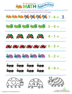 Preschool Math: Take Away the Bugs
