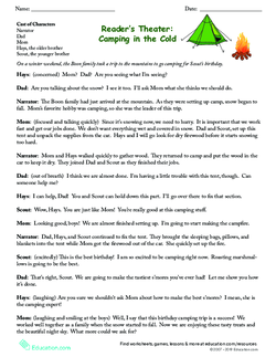 Reader's Theater: Camping in the Cold
