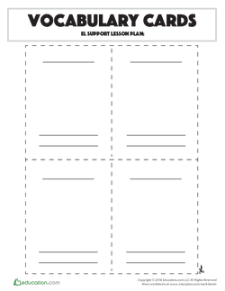 Vocabulary Cards Template