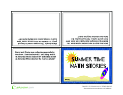 Summer Time Math Stories