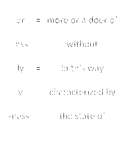 Suffix List