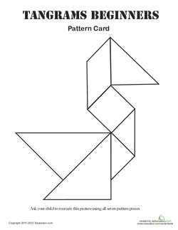 Easy Tangrams Puzzle #1