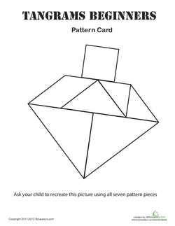 Easy Tangrams Puzzle #4