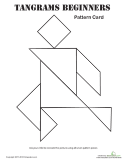 Easy Tangrams Puzzle #7