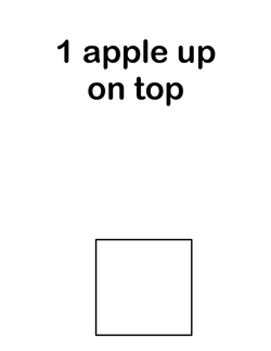 10 Apples Up on Top set