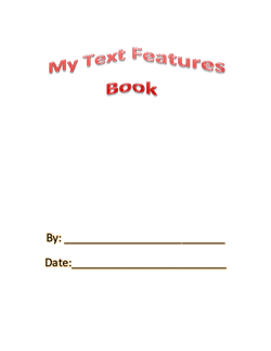 Text Features Book Pages
