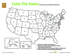 U.S. Expansion: Color by History