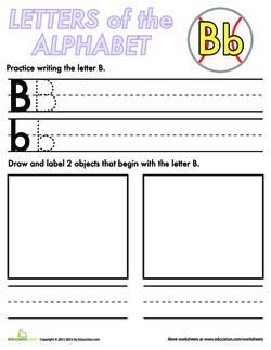 Alphabet Practice: B