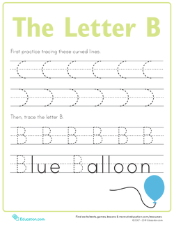 Letter B Tracing Practice