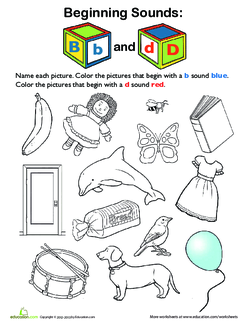 Review Beginning Sounds B and D