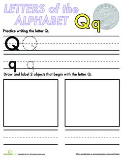 Alphabet Practice: Q