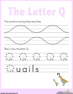 Practice Tracing Q