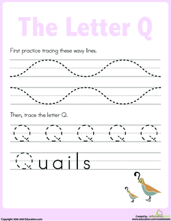 The quaint letter q lesson plan education before the lesson place the letter q cutout under a students table spiritdancerdesigns Choice Image