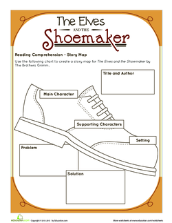 The Elves and the Shoemaker Story Map