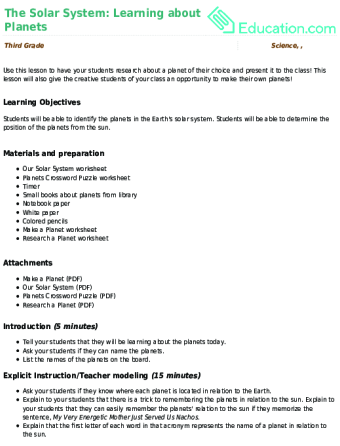 3rd Grade Lesson Plans | Education com