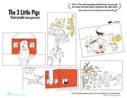 the three little pigs finger puppets play lesson plan education com