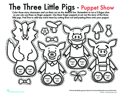 The Three Little Pigs Finger Puppet Show