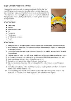 Wolf Mask Activity Sheet