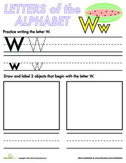 Alphabet Practice: W