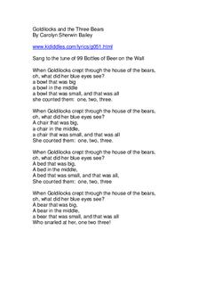 Goldilocks Song Lyrics