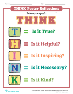 THINK Poster Reflections