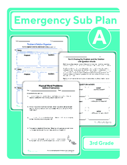 Third Grade Sub Plan: Day 1