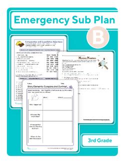 Third Grade Sub Plan: Day 2