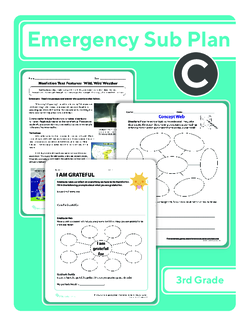 Third Grade Sub Plan: Day 3