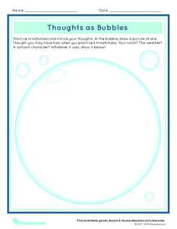 Thoughts as Bubbles