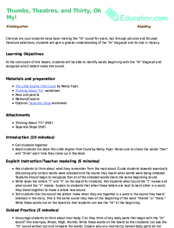 Consonant Digraphs Education