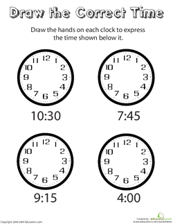 Draw the Correct Time
