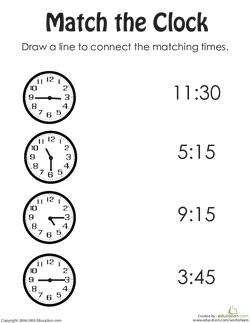 Match the Clock