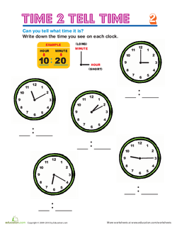 Time to Tell Time: Showing and Writing Time | Lesson plan
