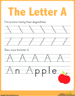 select a letter for your class to practice for todays lesson for example choose the letter a