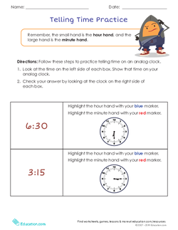 Tricky Time Telling | Lesson Plan | Education.com