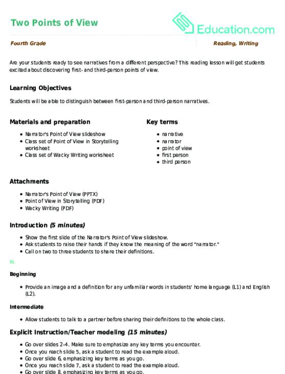 Sentence Variety Lesson Plan – Sentence Variety Worksheet