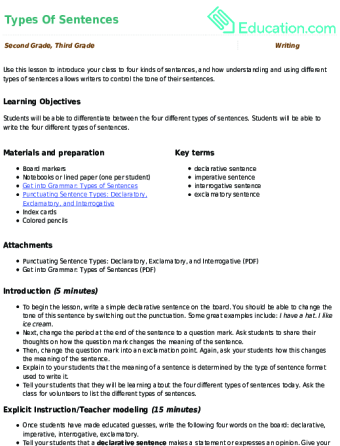 2nd Grade Lesson Plans Educationcom