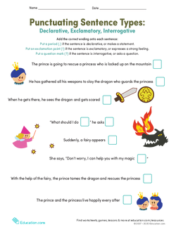 Punctuating Sentence Types: Declaratory, Exclamatory, and Interrogative