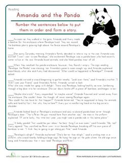 Sort the Story: Amanda & the Panda