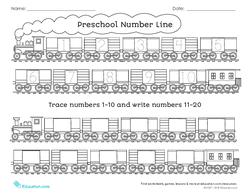 Preschool Number Line