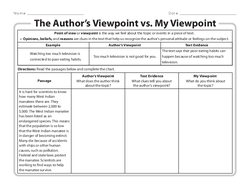 The Author's Viewpoint vs. My Viewpoint