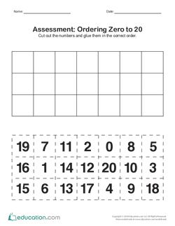 Assessment: Ordering Zero to 20