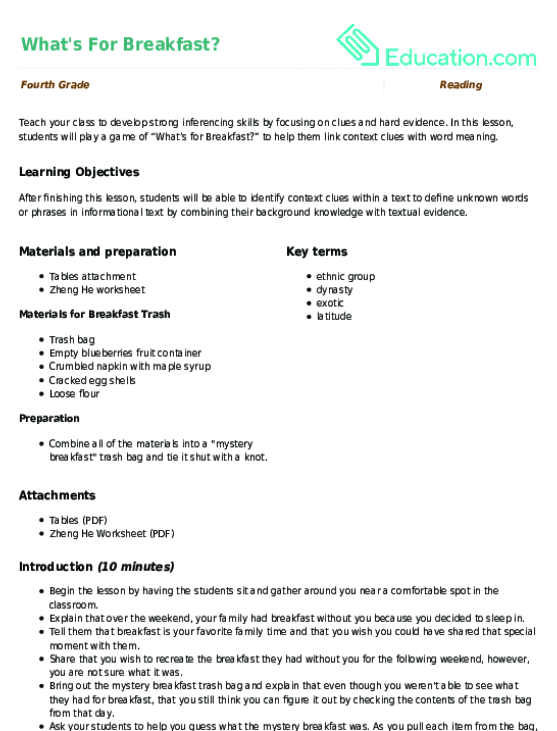 What's For Breakfast Lesson Plan Education. What's For Breakfast. Worksheet. 2 2 Gustar And Similar Verbs Worksheet Answers At Clickcart.co