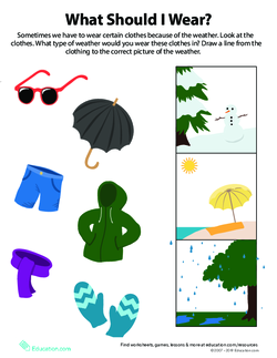 What to Wear Weather Worksheet