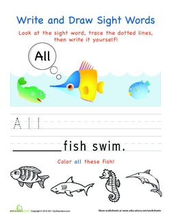 Write and Draw Sight Words: All
